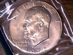 1978 P $1.00 EISENHOWER DOLLAR UNCIRCULATED IN ORIGINAL MINT CELLO