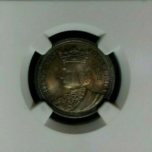 1893 ISABELLA SILVER QUARTER  NGC MS 65  BEAUTIFUL COIN  REF51 009
