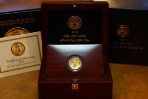 Click now to see the BUY IT NOW Price! 2009 GOLD ULTRA HIGH RELIEF DOUBLE EAGLE GOLD COIN W/ BOOK WOOD DISPLAY BOX COA