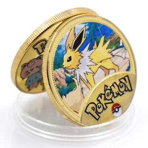 POKEMON  BUSINESS GIFT COMMEMORATIVE 24K GOLD FOIL METAL COIN CRAFTS