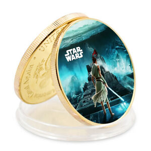 STAR WAR BUSINESS GIFT COMMEMORATIVE 24K GOLD FOIL METAL COIN CRAFTS