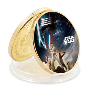 STAR WAR GOLDEN METAL COMMEMORATIVE COIN ART ORNAMENT NEW YEAR'S GIFT