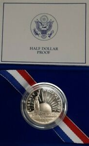 1986 S STATUE OF LIBERTY COMMEMORATIVE PROOF CLAD HALF DOLLAR COIN IN OGP