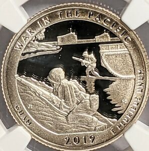 2019 S .999 SILVER PACIFIC HISTORICAL PARK QUARTER NGC PF70 ULTRA CAMEO FIRST RE