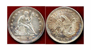 1853 25C ARROWS/RAYS  RAINBOW TONING LIBERTY SEATED QUARTER