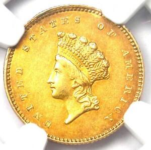 1854 TYPE 2 INDIAN GOLD DOLLAR  G$1 COIN    NGC AU DETAIL    TYPE TWO