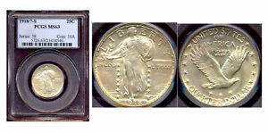 Click now to see the BUY IT NOW Price! 1918/7 S 25C PCGS MS 63 SACRCE & KEY DATE STANDING LIBERTY QUARTER