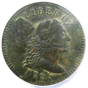 1795 FLOWING HAIR LIBERTY CAP LARGE CENT S 76B   CERTIFIED ANACS VF30 DETAILS