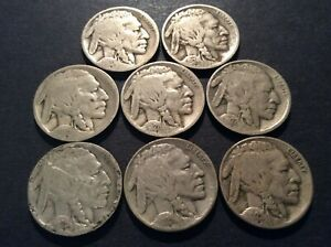 1920 1929 BUFFALO NICKEL LOT OF 8 POOR TO AG