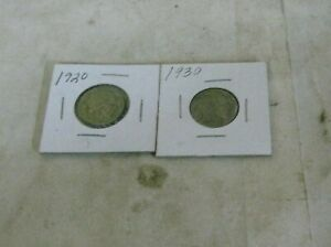 86H 1 1920 AND 1930 BUFFALO NICKELS WHICH HAVE FULL HORN PLEASE SEE PICTURES