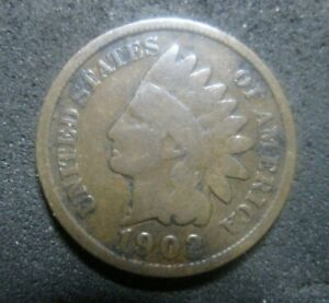 US 1902 INDIAN HEAD PENNY ONE CENT COIN UNGRADED