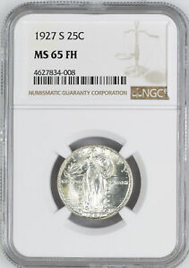 Click now to see the BUY IT NOW Price! 1927 S STANDING LIBERTY 25C NGC MS 65 FH