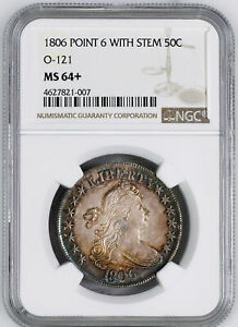 Click now to see the BUY IT NOW Price! 1806 DRAPED BUST 50C NGC MS 64