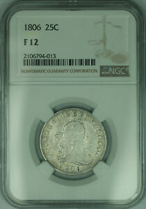 Click now to see the BUY IT NOW Price! 1806 DRAPED BUST SILVER QUARTER 25C  B 8 REVERSE CUD FINEST KNOWN  NGC F 12