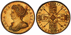 Click now to see the BUY IT NOW Price! GREAT BRITAIN. ANNE 1711 AV TWO GUINEAS. PCGS MS63 SCBC 3569
