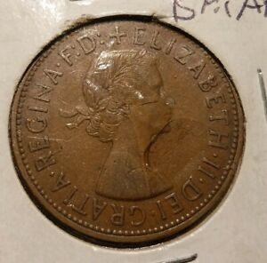 GREAT BRITAIN GB UK 1961 VF VERY NICE OLD VINTAGE LARGE PENNY COIN