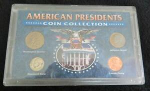 AMERICAN PRESIDENTS COIN COLLECTION   4 COINS   NEAT IDEA