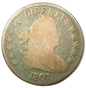 1807 DRAPED BUST HALF DOLLAR 50C   VG DETAILS    EARLY COIN