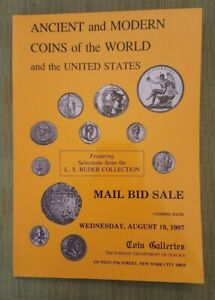 HANOVER COLLECTION OF BUST HALF DOLLARS   COIN GALLERIES AUCTION CATALOG 1987