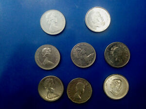 CANADA COIN LOT OF 5 CENTS 8 PCS  T3917