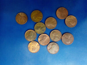 USA COIN LOT OF 1 CENTS 12 PCS   T3261