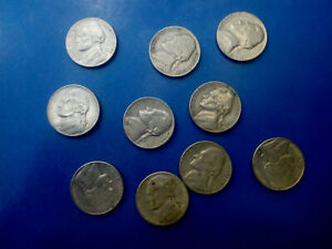 USA COIN LOT OF 5 CENTS 10 PCS T3969