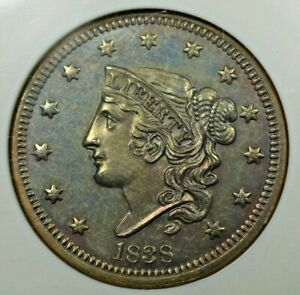 Click now to see the BUY IT NOW Price! 1838 1C NGC PF65 BN MINTAGE OF 12
