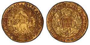 Click now to see the BUY IT NOW Price! ENGLAND ELIZABETH I  1592 95   TUN  AV SOVEREIGN. PCGS AU58 LONDON S 2529 N 2003