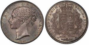 Click now to see the BUY IT NOW Price! GREAT BRITAIN VICTORIA 1845 AR CROWN. PCGS MS64 SCBC 3882; ESC 2564