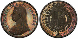 Click now to see the BUY IT NOW Price! GREAT BRITAIN VICTORIA 1884 AR PATTERN HALFCROWN. PCGS PR64 ESC 2802 R7