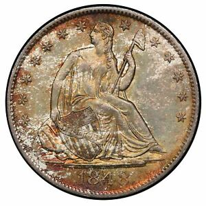 Click now to see the BUY IT NOW Price! 1848 O 50C LIBERTY SEATED HALF DOLLAR PCGS MS65 CAC