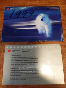 1999 CANADA PROOF SET ENVELOPE ONLY  EMPTY NO COINS  COA INCLUDED