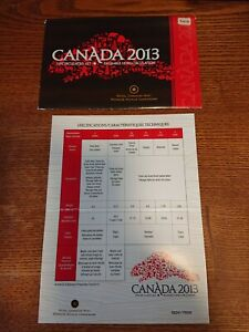 2013 CANADA PROOF SET ENVELOPE ONLY  EMPTY NO COINS  COA INCLUDED