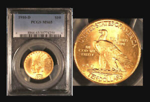 1910 D $10 MS65 PCGS ONLY 61 FINER  EAGLE