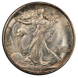 Click now to see the BUY IT NOW Price! 1918 D 50C WALKING LIBERTY HALF DOLLAR PCGS MS66