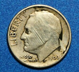 1960 D  SILVER ROOSEVELT DIME CIRCULATED