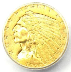 1928 INDIAN GOLD QUARTER EAGLE $2.50 COIN   ICG MS66   $12 400 GUIDE VALUE