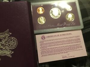 1991 S US MINT PROOF SET W/BOX AND CERTIFICATE. NICE PROOF SET .