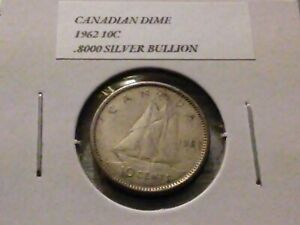 1962 10C SILVER CANADIAN DIME 4049