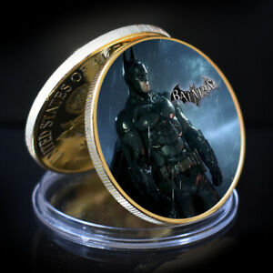 BATMAN ART ORNAMENT HOLIDAY GIFTS THANKS GIVING GOLD PLATED ROUND COIN