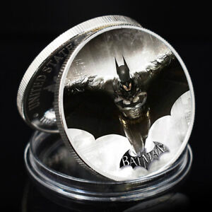 BATMAN ARTWORK SOUVENIR COINSILVER PLATED ART ORNAMENT METAL COIN ART CRAFTS