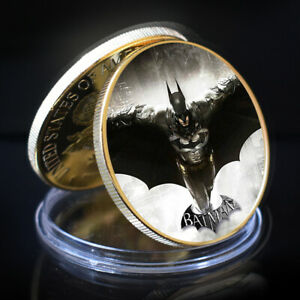 BATMAN MEMORRY COIN COLLECTIVE GIFTS GOLD PLATED HOLIDAY GIFTS ART CRAFTS
