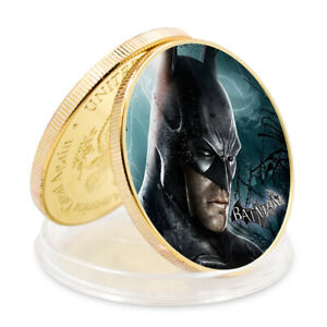 CHILD BIRTHDAY SOUVENIR GIFTS BATMAN 24K GOLD PLATED SUPER HERO COIN COLLECTIONS