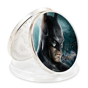 CHRISTMAS SOUVENIR GIFTS BATMAN SUPER HERO 999.9 SILVER PLATED CHALLENGE COIN