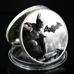 BATMAN LUCKY COIN LUCKY SOUVENIR LIVING ROOM DECORATION SILVER PLATED GIFT COIN