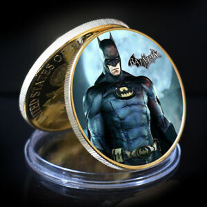 BATMAN NON CURRENCY COIN VINTAGE HOME DCOR ROUND COIN GOLD WORLD COIN
