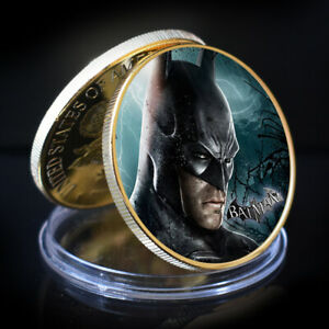 BATMAN SOUVENIR COIN GOLD PLATED GIFT COIN ART CRAFTS FESTIVAL SOUVENIRS