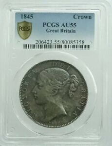 Click now to see the BUY IT NOW Price! GREAT BRITAIN CROWN SILVER COIN 1845 28.4G PCGS AU 55  FR JP 100NN