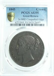 Click now to see the BUY IT NOW Price! GREAT BRITAIN CROWN SILVER COIN 1845 28.4G PCGS AU 55  FR JP 101NN
