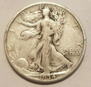 Click now to see the BUY IT NOW Price! 1934 P WALKING LIBERTY HALF DOLLAR SILVER COIN 50 CENTS WALKER 50C NICE